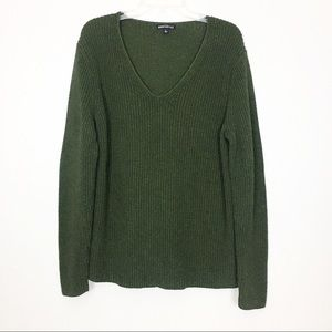 J. Crew Mercantile Heather V-Neck Sweater Large